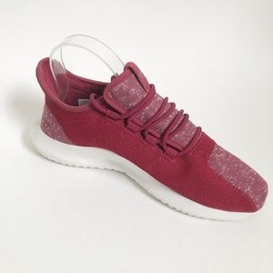 Adidas Red Lace Up Athletic Running Shoes